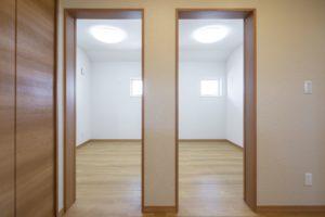 将来2部屋にできる2ドア1ルームの子ども部屋